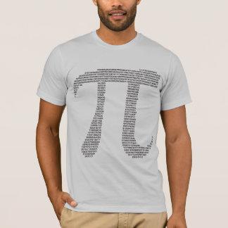 Camiseta del símbolo del pi
