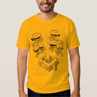 Camiseta del sitio de vapor de la almeja poleras