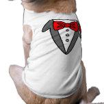 Camiseta del smoking del perro camiseta de mascota