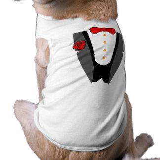 Camiseta del smoking del perro playera sin mangas para perro