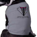 camiseta del smoking playera sin mangas para perro