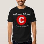 Camiseta del subterráneo de Cincinnati (negro) Playera