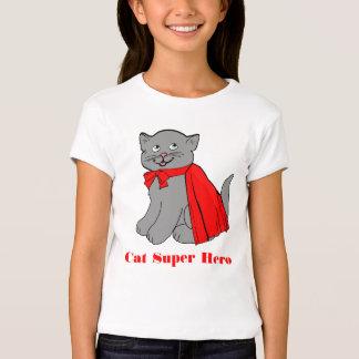 Camiseta del superhéroe del gato