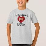 Camiseta del superviviente del corazón quebrado polera