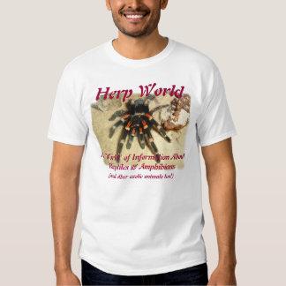 Camiseta del Tarantula del mundo de Herp Polera