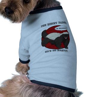 Camiseta del tejón de miel camisa de perro