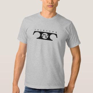 Camiseta del teletipo (pequeño diseño) playeras