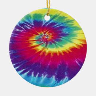 Camiseta del teñido anudado del Hippie Adorno Navideño Redondo De Cerámica