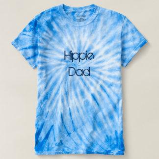 Camiseta del teñido anudado del papá del Hippie Remeras