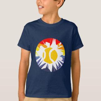 Camiseta del tenis de los niños