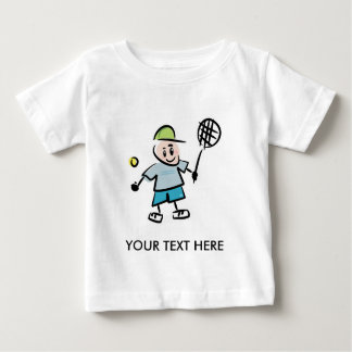 Camiseta del tenis de los niños con el jugador de