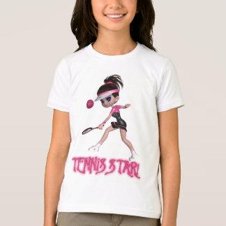 Camiseta del tenis de Tesigner de los chicas,