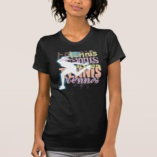 Camiseta del tenis playera