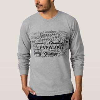 Camiseta del texto de la genealogía remeras