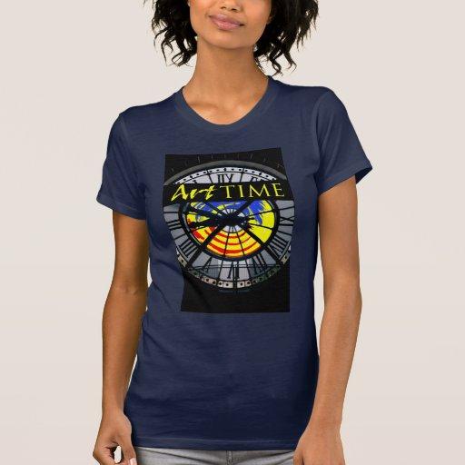 Camiseta del tiempo del arte