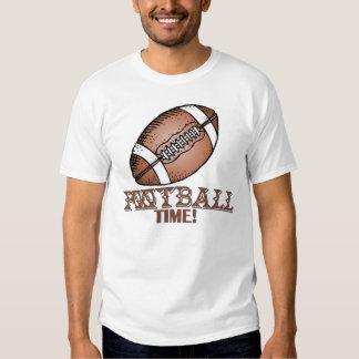 Camiseta del tiempo del fútbol playera