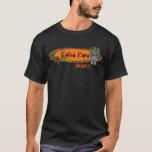 Camiseta del tiki de la tabla hawaiana de los