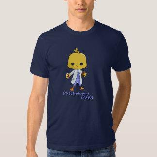 Camiseta del tipo de la flebotomía playeras