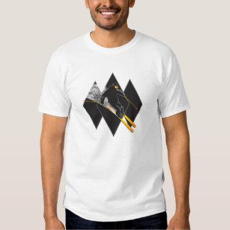 Camiseta del tipo del diamante negro polera