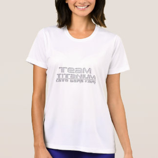 Camiseta del titanio del equipo playeras