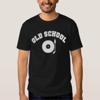 Camiseta del tocadiscos de DJ de la escuela vieja Playera