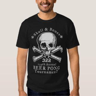 Camiseta del torneo de Pong del cráneo y de la Poleras