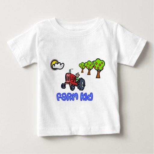 Camiseta del tractor del niño de la granja