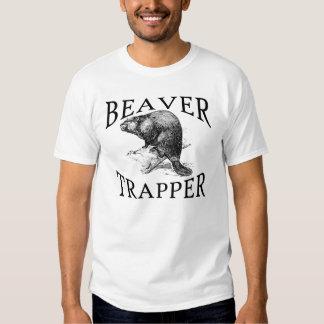 Camiseta del trampero del castor remera