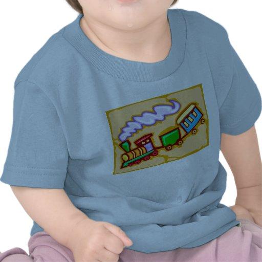 Camiseta del tren del bebé