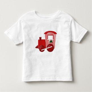 Camiseta del tren del navidad playera