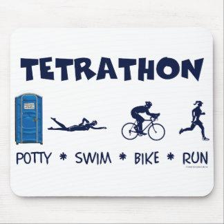 Camiseta del Triathlon de Tetrathon Alfombrillas De Raton
