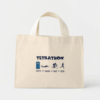 Camiseta del Triathlon de Tetrathon Bolsa De Tela Pequeña