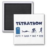 Camiseta del Triathlon de Tetrathon Imán Para Frigorifico