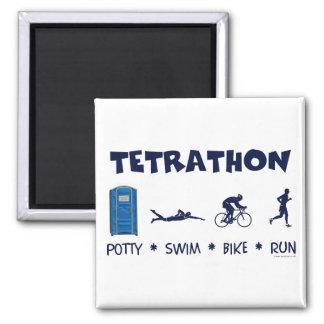 Camiseta del Triathlon de Tetrathon Imán Cuadrado