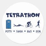 Camiseta del Triathlon de Tetrathon Etiqueta Redonda