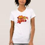 Camiseta del trío del Daylily Remeras