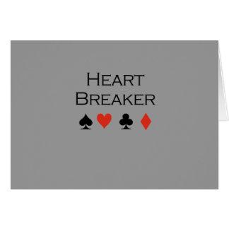 Camiseta del triturador del corazón tarjeta de felicitación