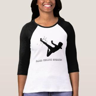 Camiseta del triturador del techo de cristal del playeras