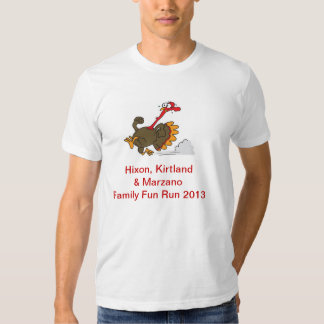 camiseta del trote de pavo playeras
