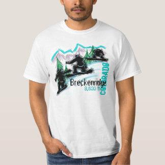Camiseta del valor de la snowboard de Breckenridge