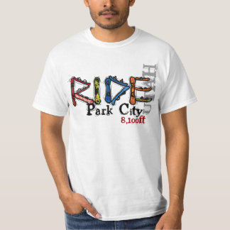 Camiseta del valor de la snowboard de Park City