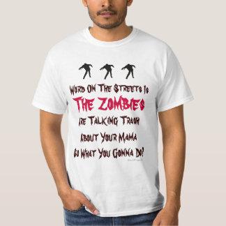 Camiseta del valor de los zombis de la basura que