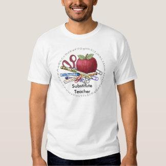 Camiseta del valor del profesor sustituto remera