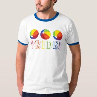Camiseta del verano de Beachball de la pelota de