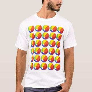 Camiseta del verano de Beachball de las bolas de