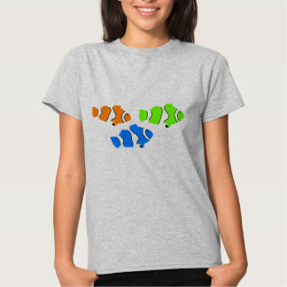 Camiseta del verano de las mujeres de los pescados playeras