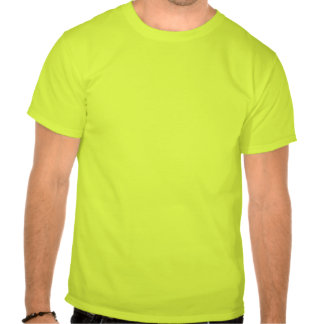 Camiseta del verde de la seguridad del taladro del