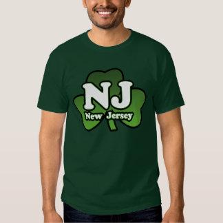 Camiseta del verde del trébol de NJ Camisas