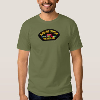 Camiseta del veterano de tormenta de desierto camisas