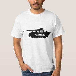 Camiseta del videojugador de la guerra de la
